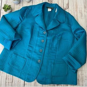 Women's Turquoise Quilted Jacket